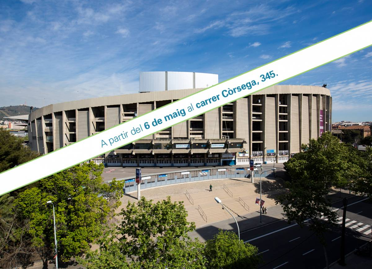 Nueva ubicación del Centro Médico FC Barcelona Assistència Sanitària